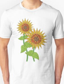 Colorful Sunflowers Unisex T-Shirt