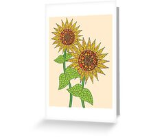 Colorful Sunflowers Greeting Card