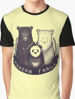 Modern Bear Family - Yellow Graphic T-Shirt