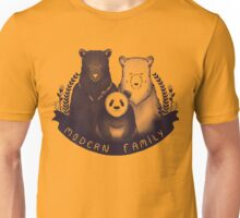 Modern Bear Family - Yellow Unisex T-Shirt