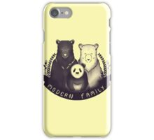 Modern Bear Family - Yellow iPhone Case/Skin