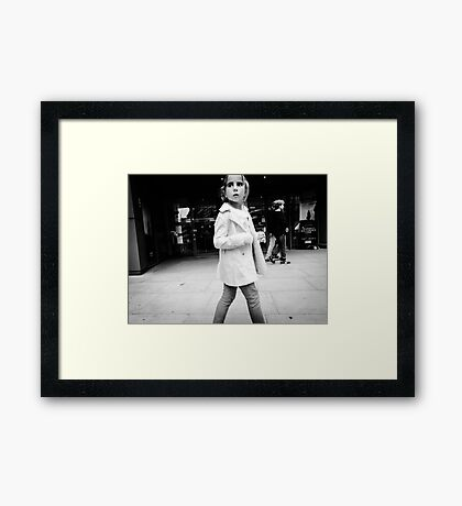 In the Pink (Black & White) Framed Print