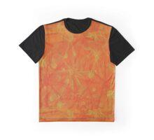Orange Yellow Bursts Graphic T-Shirt