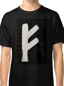 Anglo-Saxon Futhorc Feoh Wealth f Inverted Classic T-Shirt