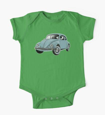 Volkswagen, BEETLE, VW, Bug, Motor, Car, Blue One Piece - Short Sleeve
