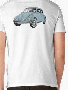 Volkswagen, BEETLE, VW, Bug, Motor, Car, Blue Mens V-Neck T-Shirt