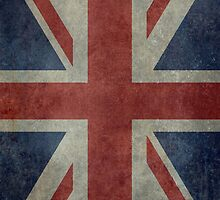 Union Jack Desaturated Grunge (3:5 Version) by Bruce Stanfield