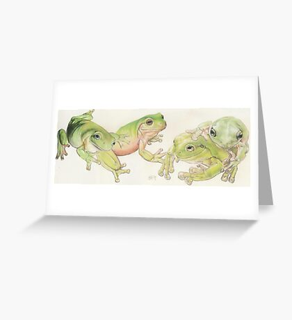 White's Tree Frog Greeting Card