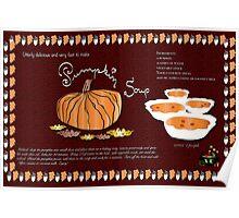Pumpkin Soup Recipe Poster