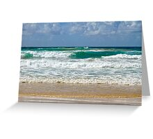 Sand and Ocean at Currumbin Beach, Q'ld  Australia.  Greeting Card