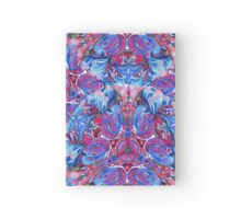 Abstract hand drawing boho pattern with birds Hardcover Journal