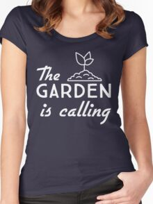 The garden is calling Women's Fitted Scoop T-Shirt