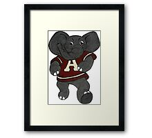 Alabama Roll Tide Elephant Framed Print