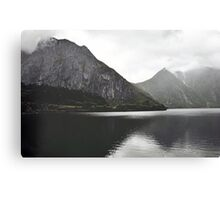 When moutains admire themselves Canvas Print