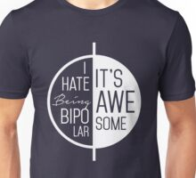 I Hate Being Bipolar It's Awesome - Funny Sarcastic Bipolar Disorder Yin Yang Design Unisex T-Shirt