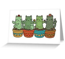 Catcus Garden (Single Row) Greeting Card
