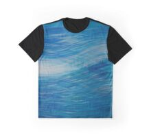 Sky Blue Waves Graphic T-Shirt