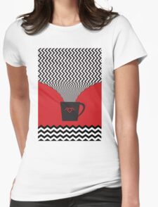 a damn fine cup of coffee Womens Fitted T-Shirt