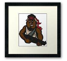 Action Guinea Pig Framed Print