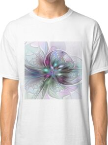 Colorful Fantasy Flower abstract and modern Fractal Art Classic T-Shirt