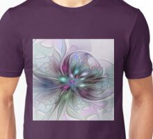 Colorful Fantasy Flower abstract and modern Fractal Art Unisex T-Shirt