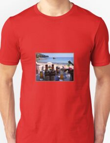 BEACH, BATHING AND BEER. Unisex T-Shirt