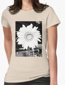Large Sunflower Womens Fitted T-Shirt