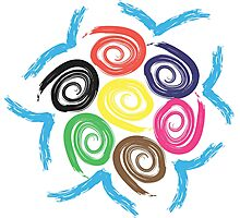 Olympic spiral flowers Photographic Print