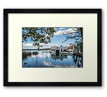 The house on the lake Framed Print