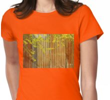 Palo Verde Blossoms against the rusty fence Womens Fitted T-Shirt