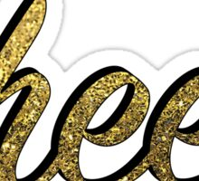 Gold Cheer Sticker