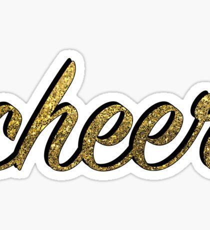 Gold Cheer Sticker