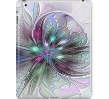 Colorful Fantasy Flower abstract and modern Fractal Art iPad Case/Skin