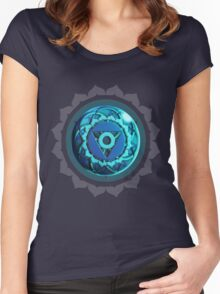 Throat Chakra (Colored Background) Women's Fitted Scoop T-Shirt