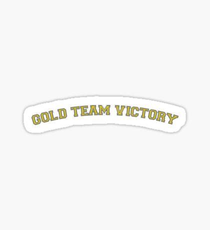 Gold Team Victory Sticker