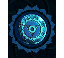 Throat Chakra (Colored Background) Photographic Print