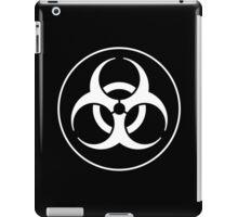 Clean Biohazard Symbol White on Black - Science Nerd iPad Case/Skin