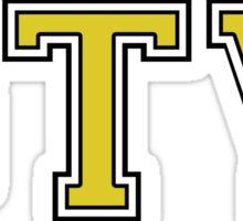GTV Varsity Font Sticker