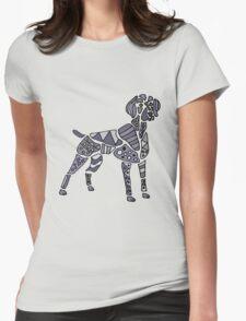 Cool Artistic Weimaraner Dog Art Womens Fitted T-Shirt