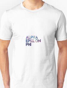 Alpha Epsilon Phi Galaxy Unisex T-Shirt