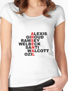 arsenal red Women's Fitted Scoop T-Shirt