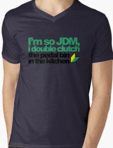 I'm so JDM, i double clutch the pedal bin (4) Mens V-Neck T-Shirt