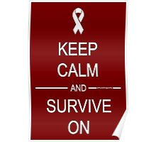 Keep Calm and Survive On Poster