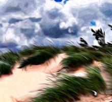 Sandy Beach Dune Grass Sticker