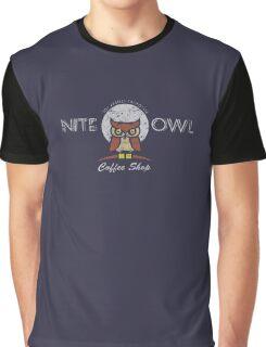 Nite Owl Coffee Shop Graphic T-Shirt