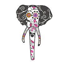 Sugar Skull Elefant Photographic Print