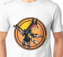 Witch on a Broom Unisex T-Shirt