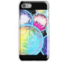Abstract Colorful Ocean Bubble Flowers iPhone Case/Skin
