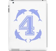 Baby learns to count with blue dolphin 4 iPad Case/Skin