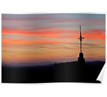 Umbrian Sunset Poster